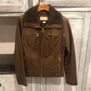 Michael Kors genuine leather coat